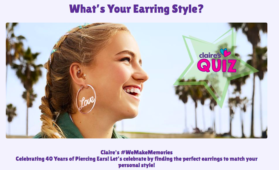what's your earring style quiz cover