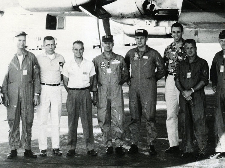 Fred (tallest at right) at McClellan Air Force Base