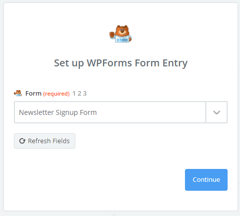 WPForms for setup