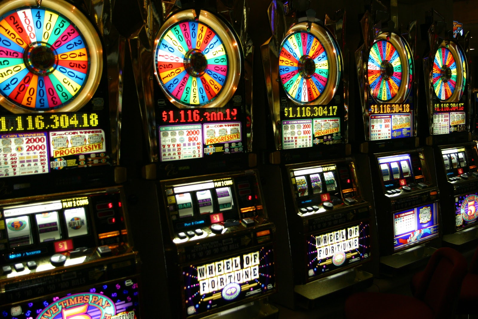 Five empty slots machines that you can use the best slots bonuses on