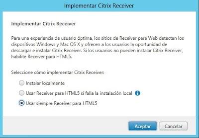 Implementar Citrix Receiver