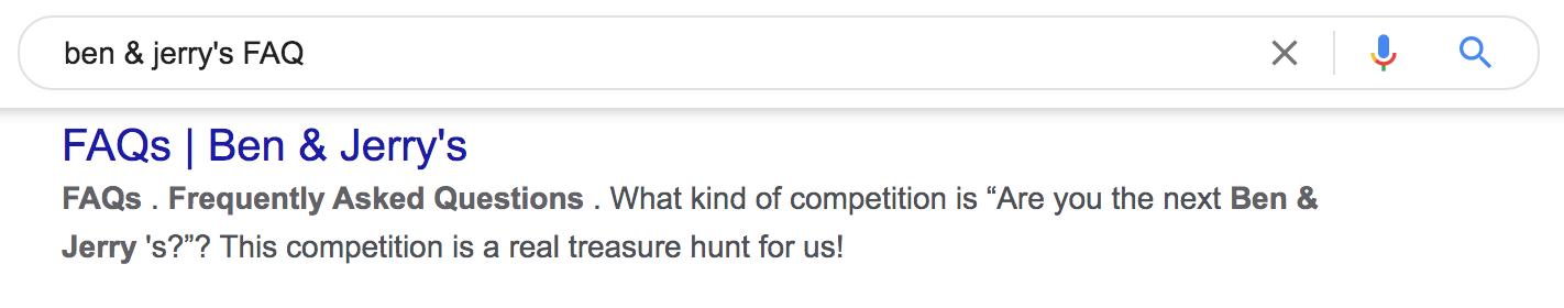 FAQ page meta description