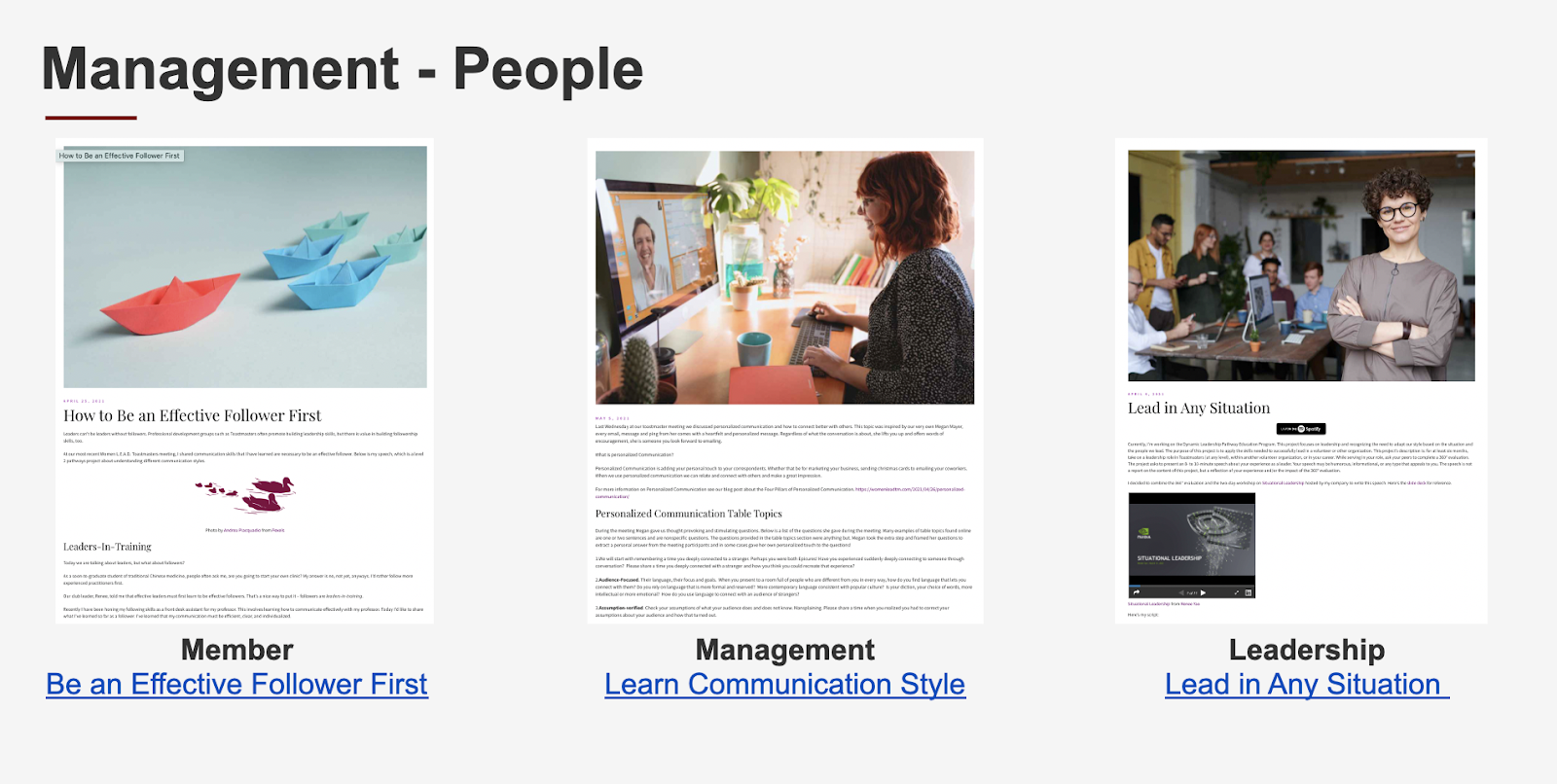 manage people