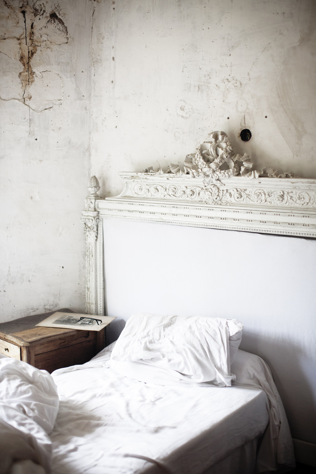 Shabby chic bedside cabinets to lend weathered charm