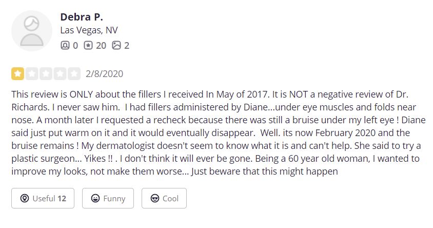 Richards Cosmetic Surgery, Med Spa & Laser Center review