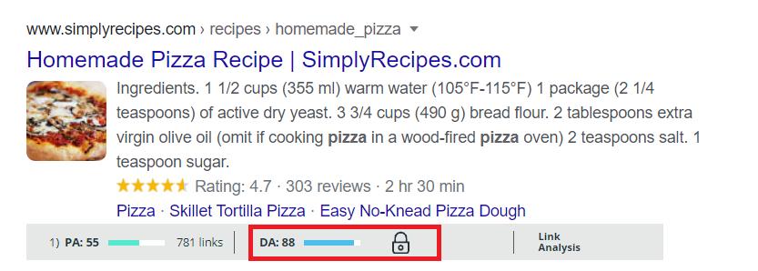 DA toolbar