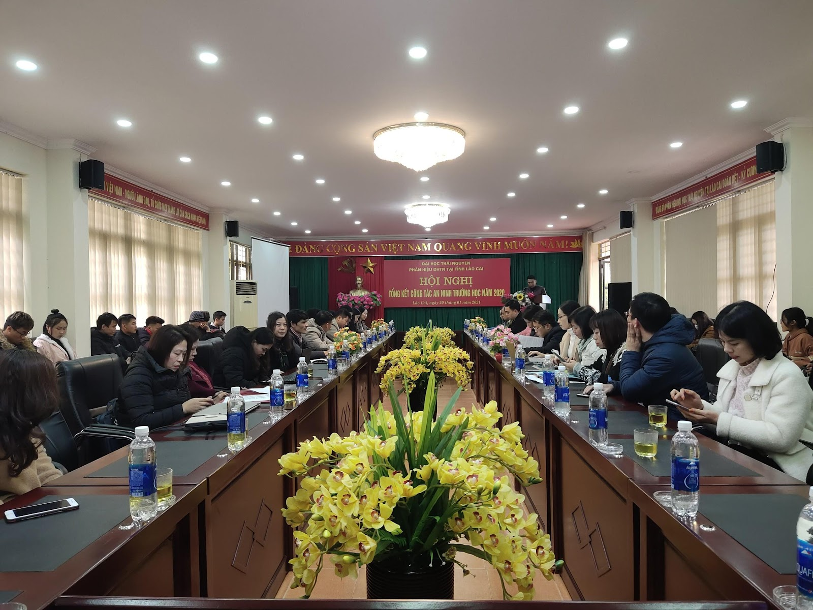 Phân hiệu Đại học Thái nguyên tổ chức Hội nghị tổng kết  công tác đảm bảo an ninh trật tự trường học năm 2020