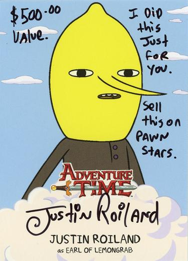 Adventure Time Trading Cards: Justin Roiland Autograph Card