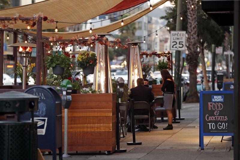 virus restaurants tents outdoor San Fran