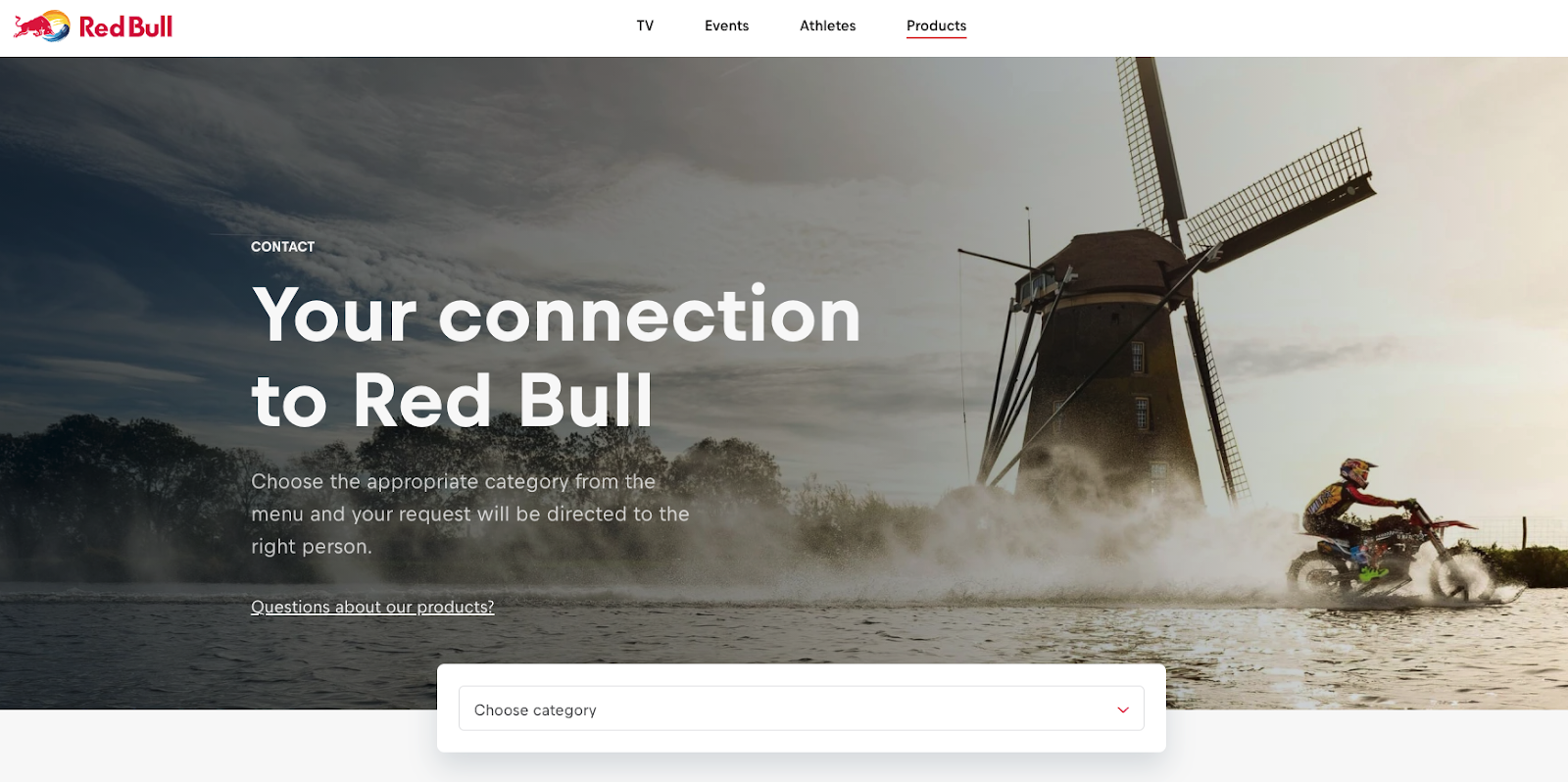 Red Bull Contact Page