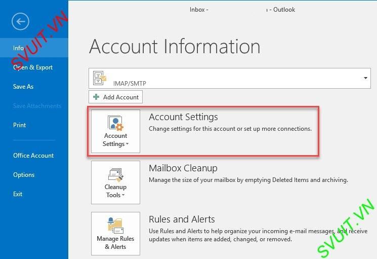 Xóa thư trên webmail và giữ lại trên Outlook (2)