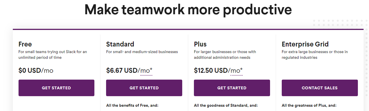 Pricing Tiered Plans