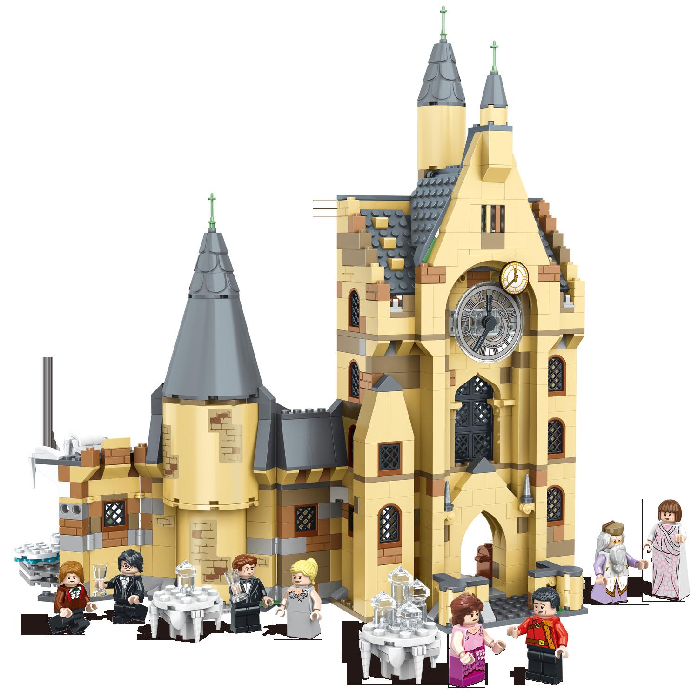 Compatible Harry Potter Hogwarts Clock Tower 922 Pieces