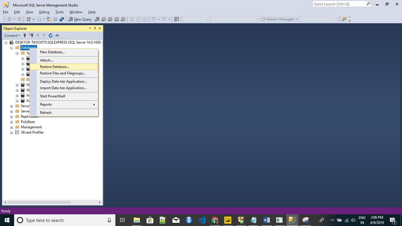 Download & Install Free Microsoft SQL Server & Install AdventureWorks Database & Data Warehouse 36
