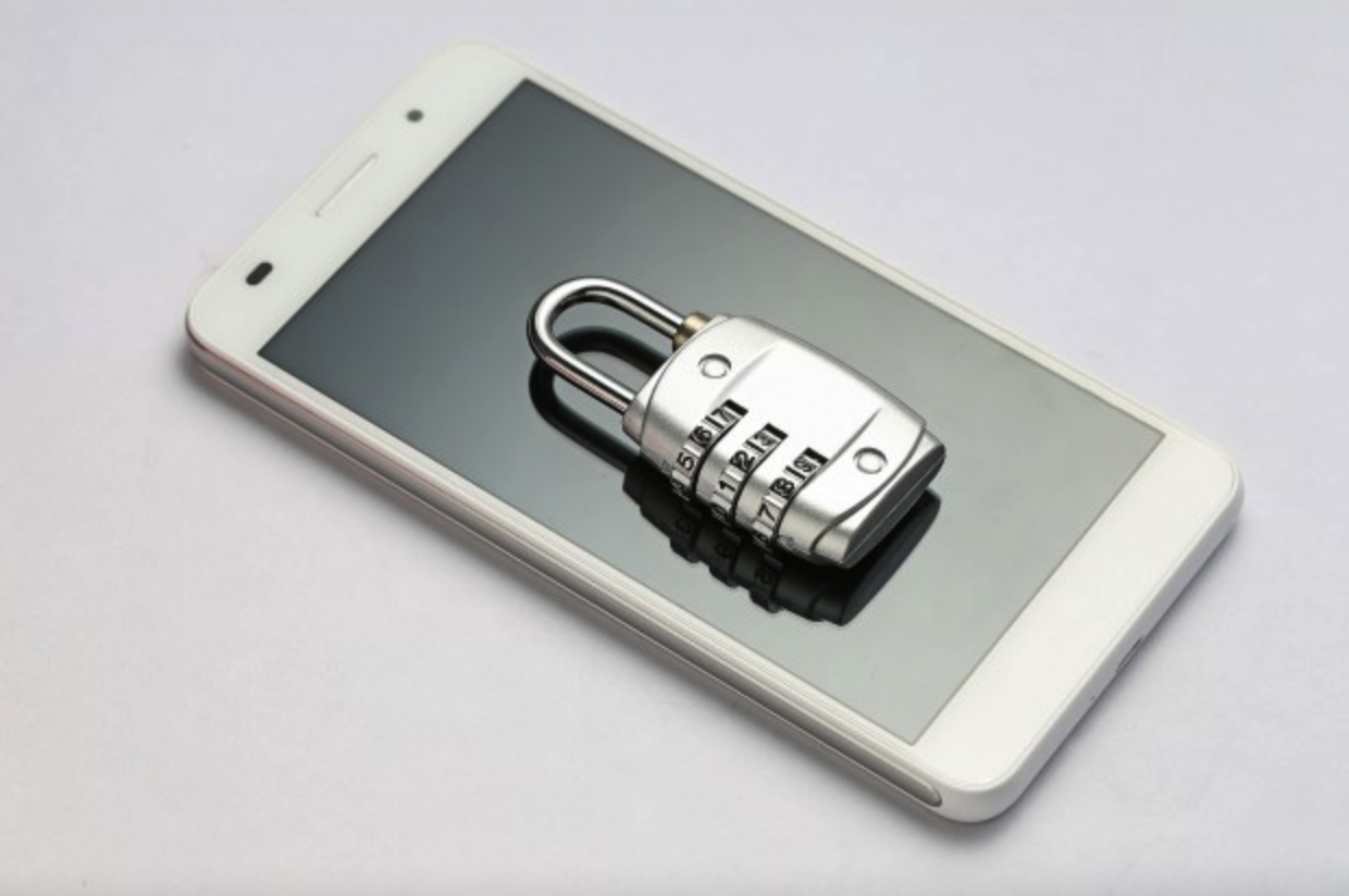Padlock on a Mobile Phone | Legal Advice for Baby Influencers