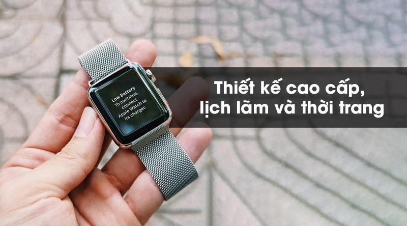Apple Watch S5 LTE 40mm viền thép dây thép thiết kế cao cấp, lịch lãm