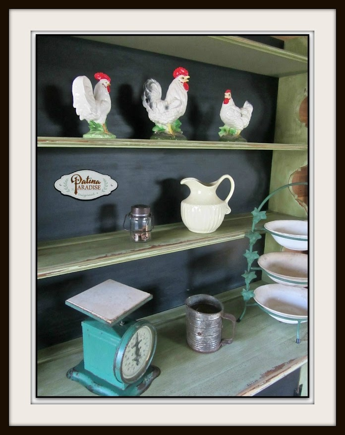 Farmhouse Cabinet with Faux Punched Tin Panel