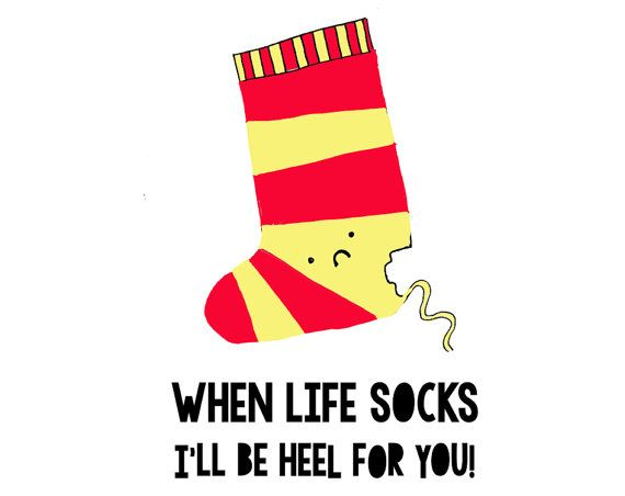 Sock the heeler