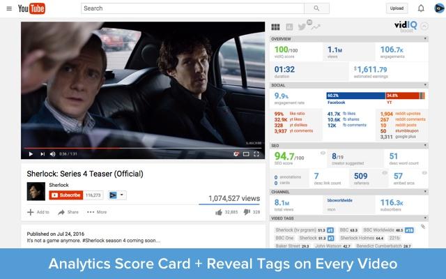 YouTube SEO Eklentileri: VidIQ