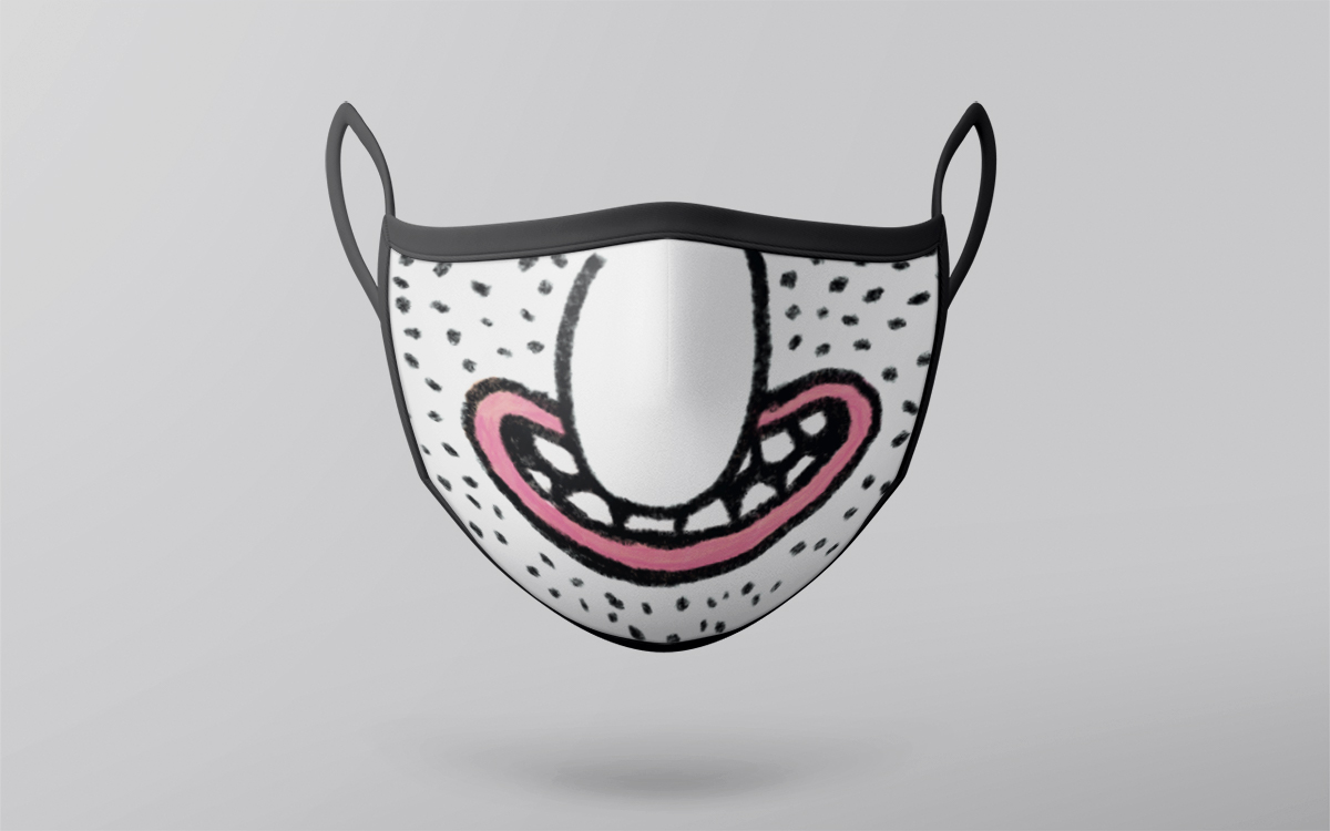 cartoon smile mask design with big nose