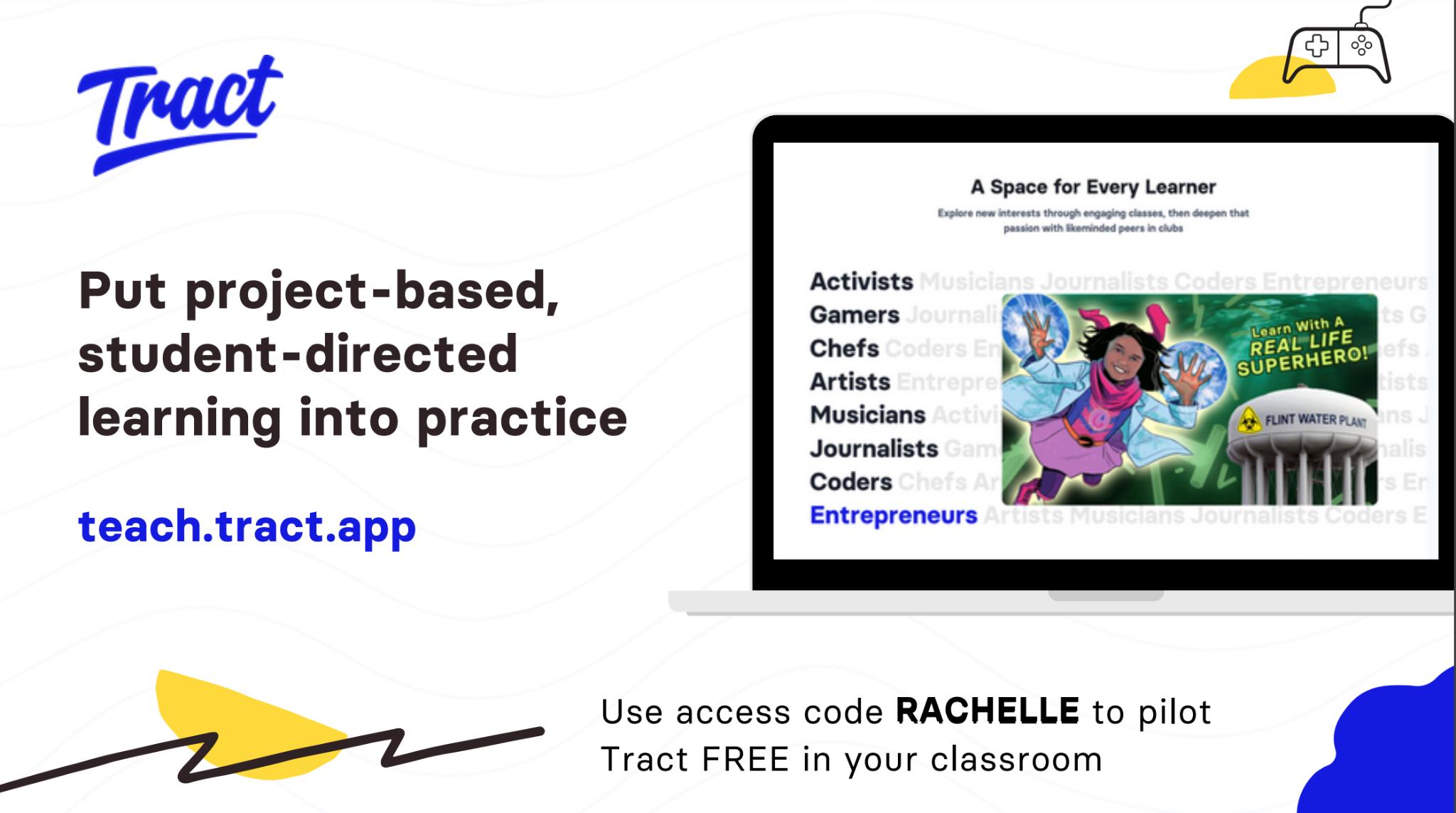 teach.tract.app use the code Rachelle