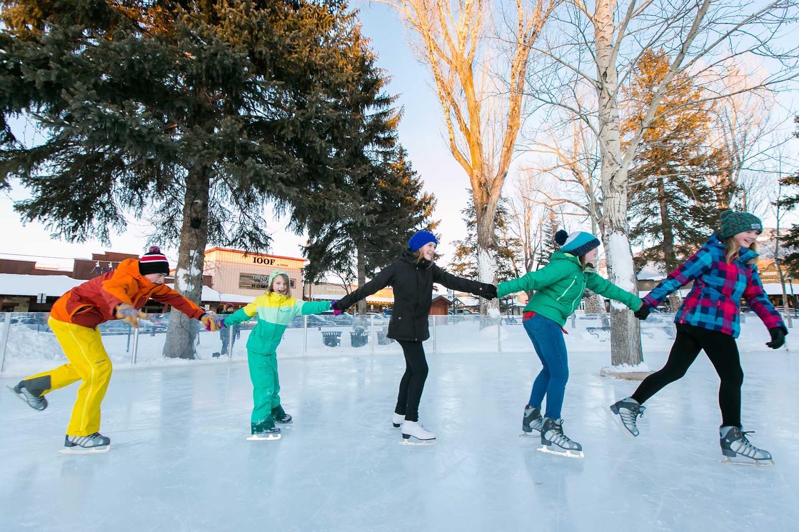 Ice Skating   Spring Creek Ranch   Jackson Hole, Wyoming