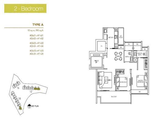 2 Bedroom - Parvis