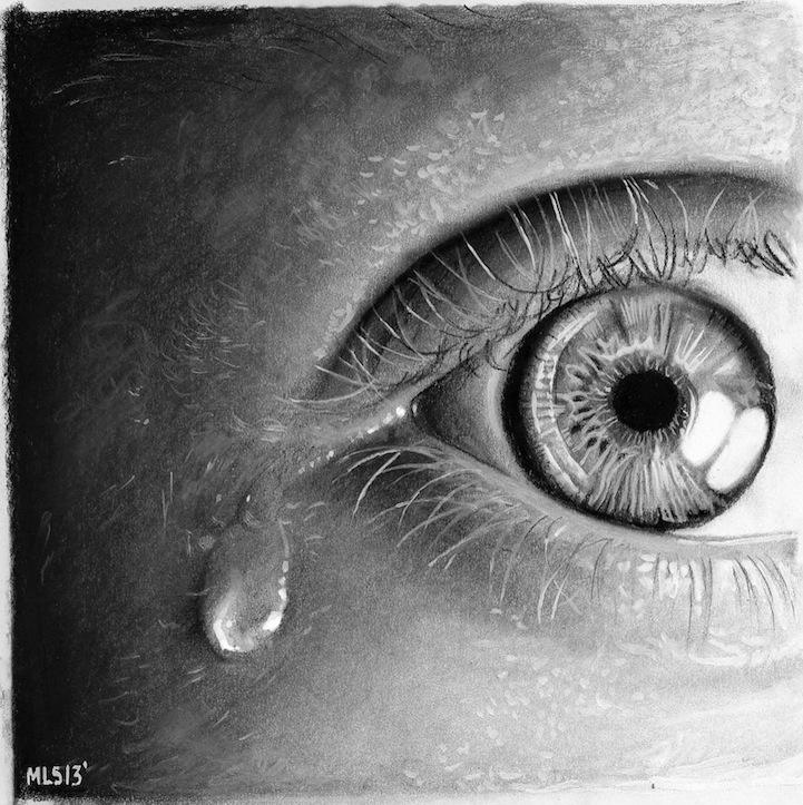 Por Amor al Arte: Hermosos dibujos de ojos hechos a lápiz.