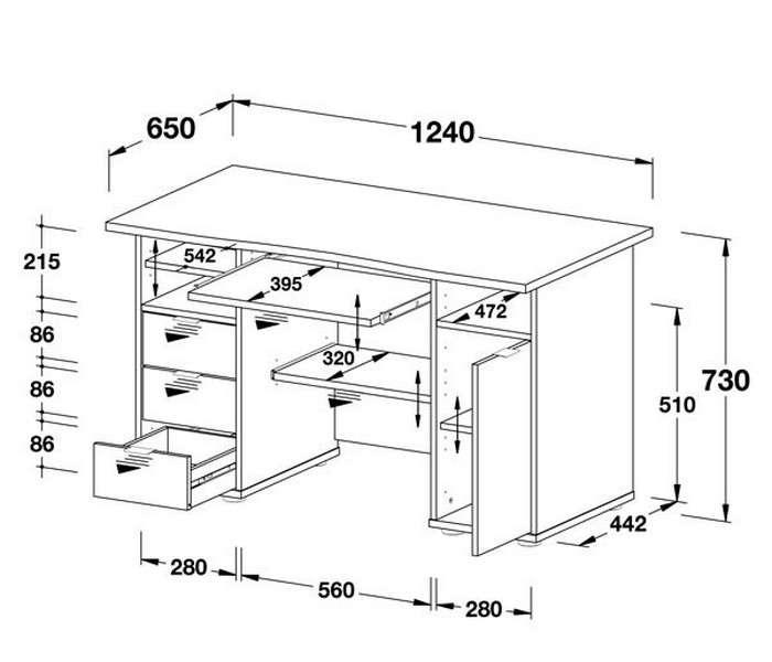 стильный деревянный компьютерный стол своими руками