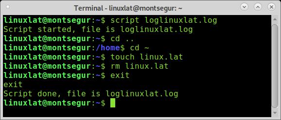 Grabar la actividad de una terminal en Linux