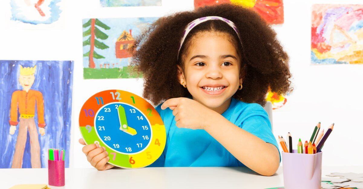 Children learn to tell time