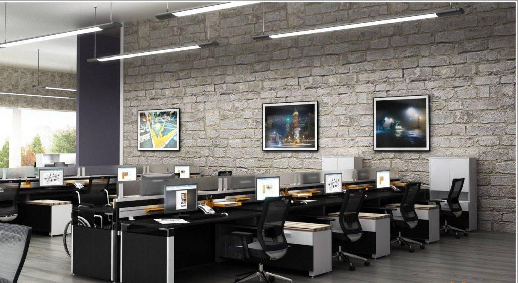 Thiết kế thi công văn phòng với vật liệu thô