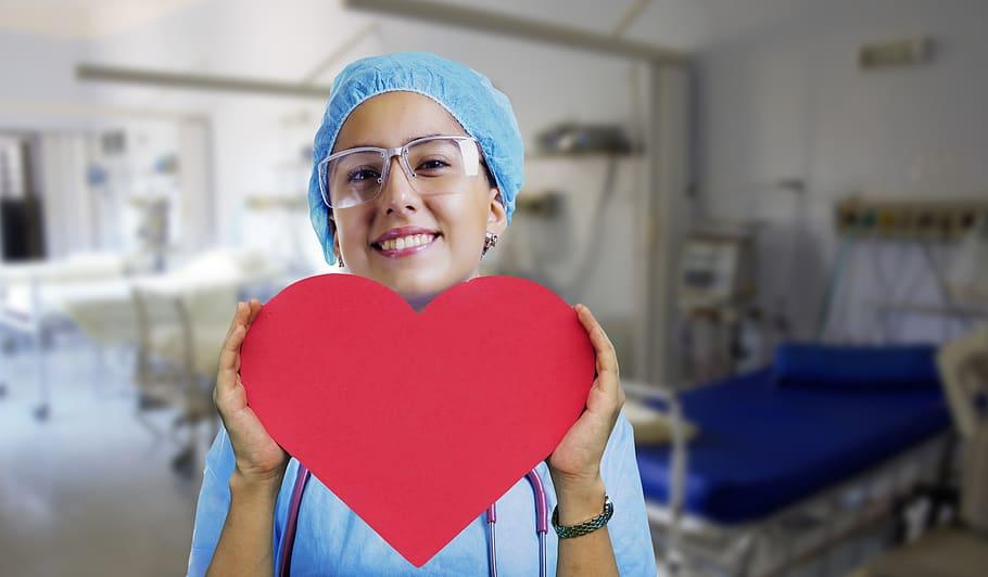 nurse, heart, pulse, stethoscope, medical, health, disease, healthcare, care, healing