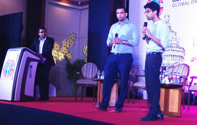Sysfore Co-founder Ajit George moderating Pichathon at GOPIO Convention in Bangalore