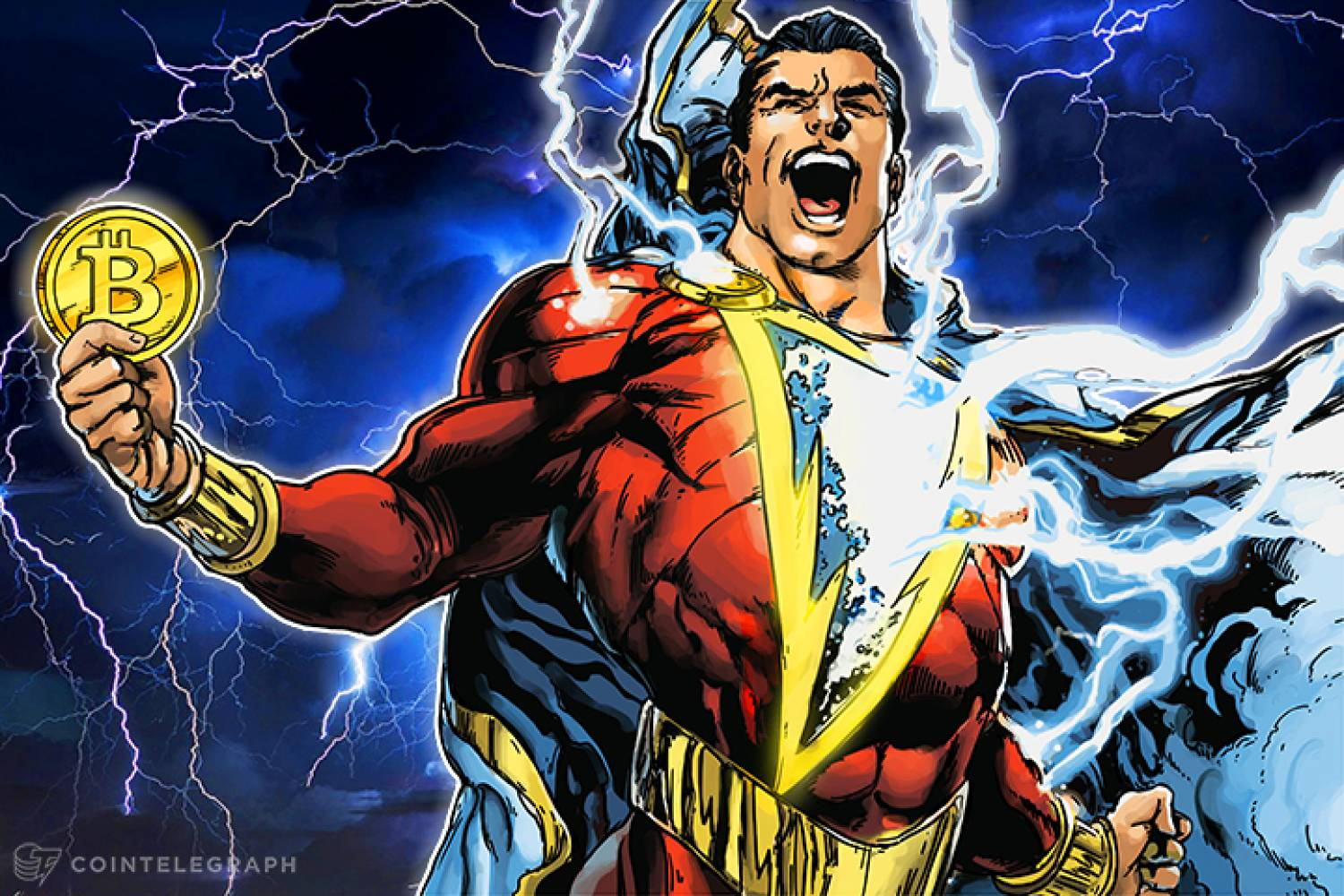 Superman with Bitcoin Lightning Network