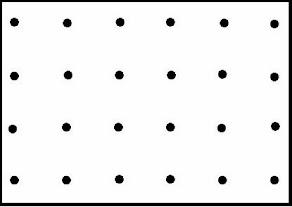 réseau pointé maille carrée