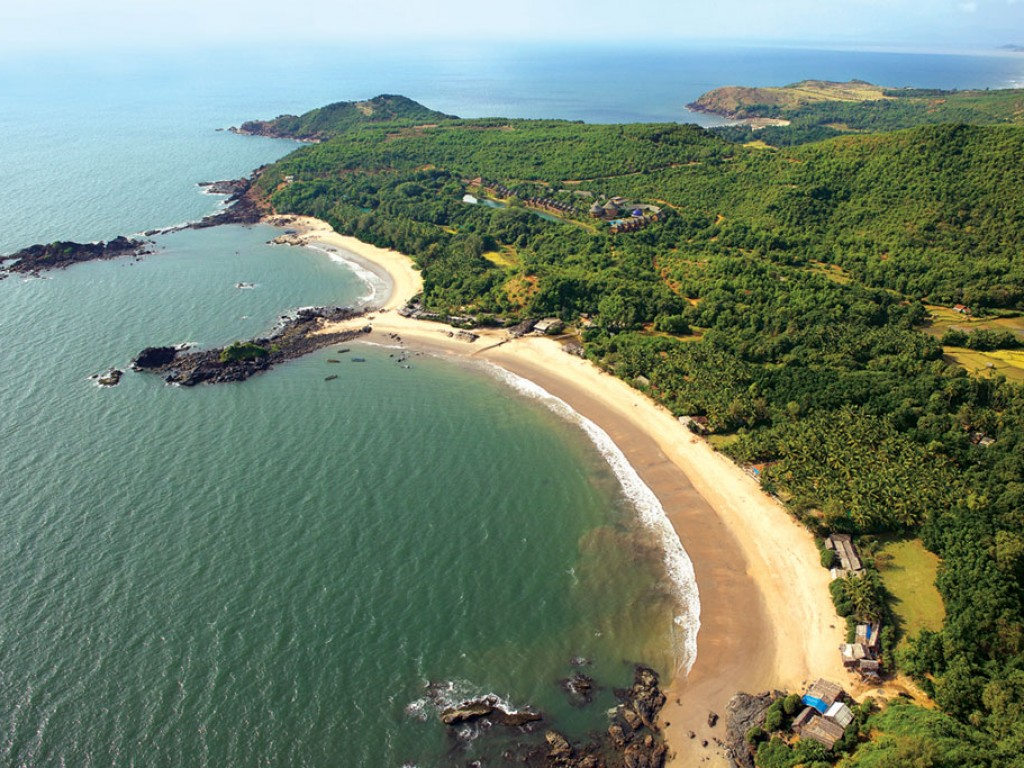 A view of one of the Gokarna beaches at late nights
