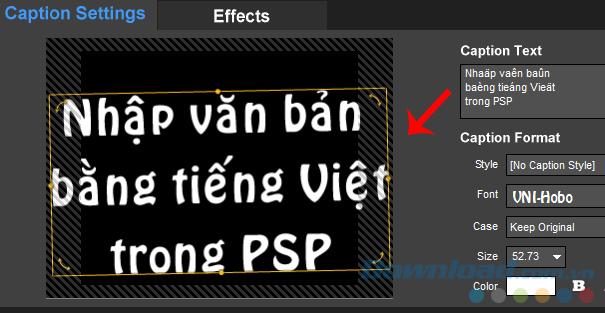 Gõ tiếng Việt trên ProShow Producer