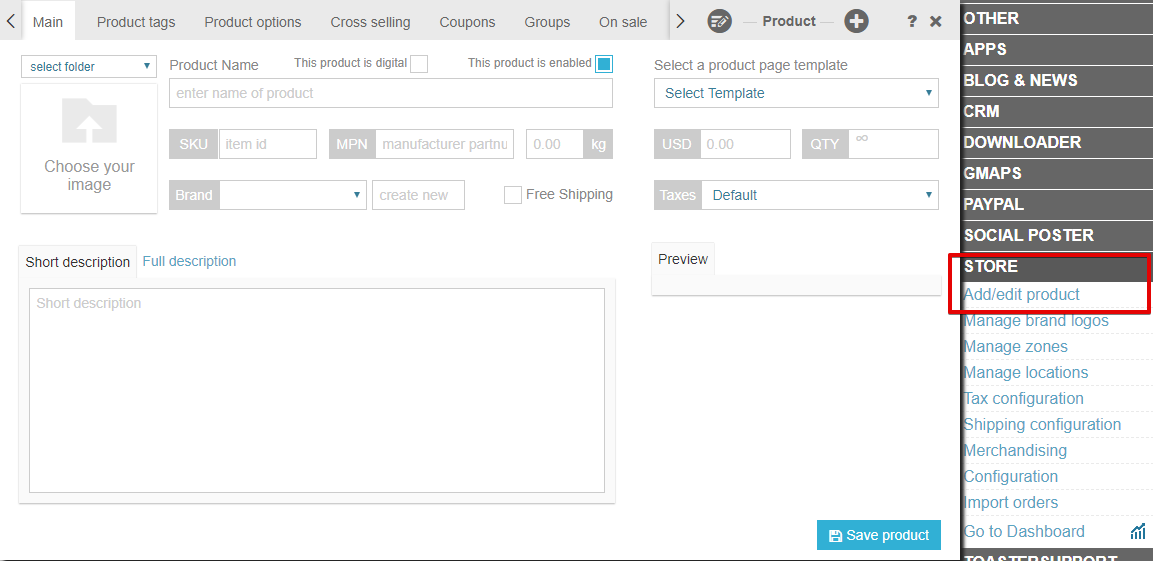 SeoToaster CRM Ultimate Edition - Ecommerce shopping cart online products catalog
