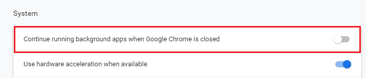 close Google chrome completely to fix high memory usage