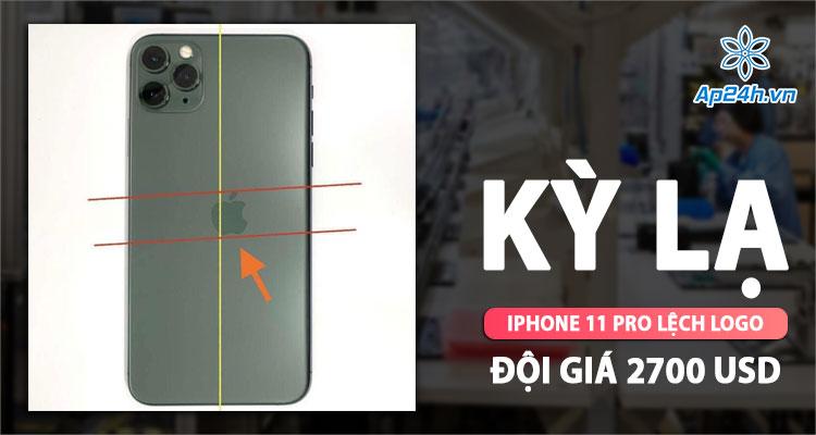iPhone 11 Pro lệch logo cực hiếm và có thể là duy nhất