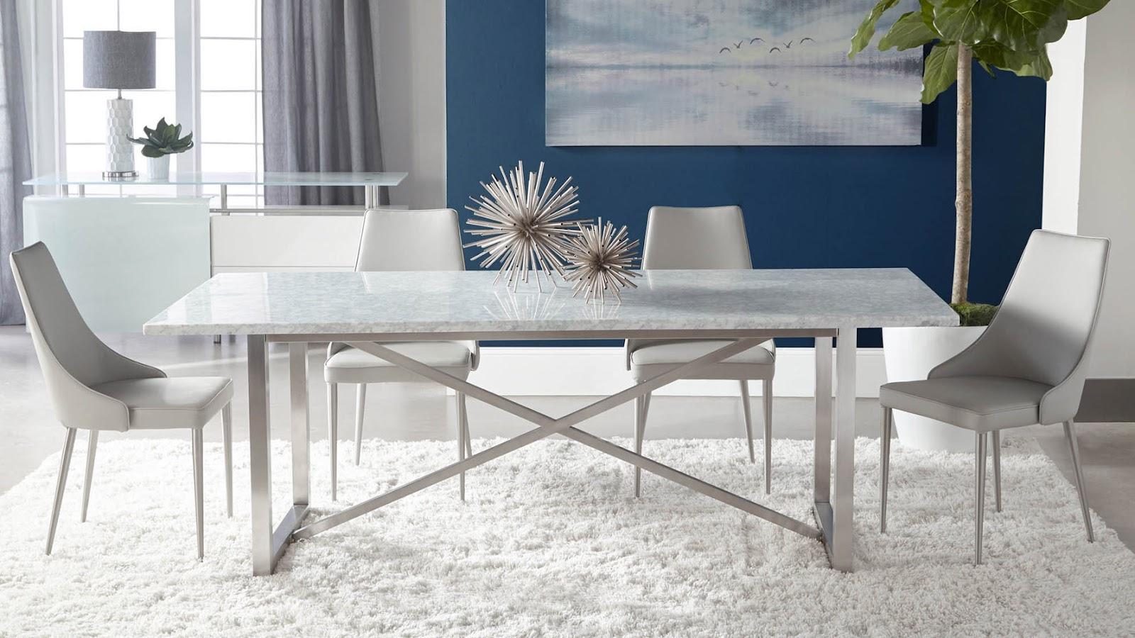 beli trpezarijski sto od mermera po meri
