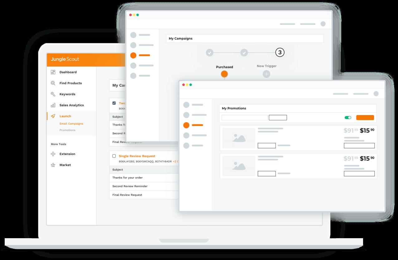 Jungle Scout Amazon product launch service