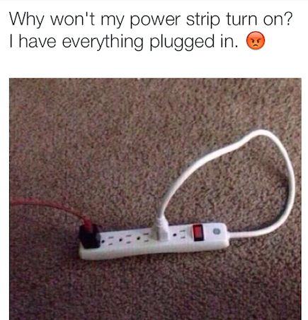 This person's plug struggle (puggle):
