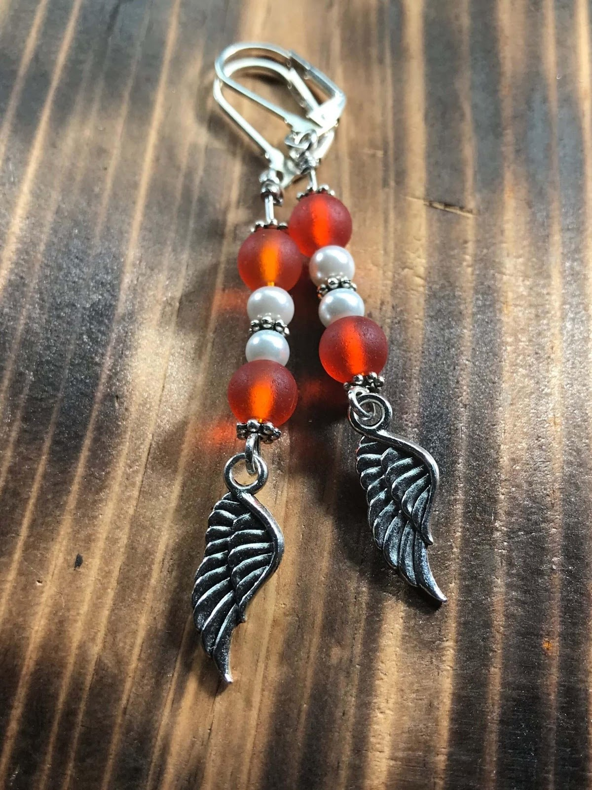 Orange Angel Earring