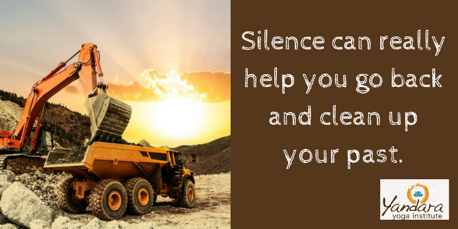Silence can help clean up your past.