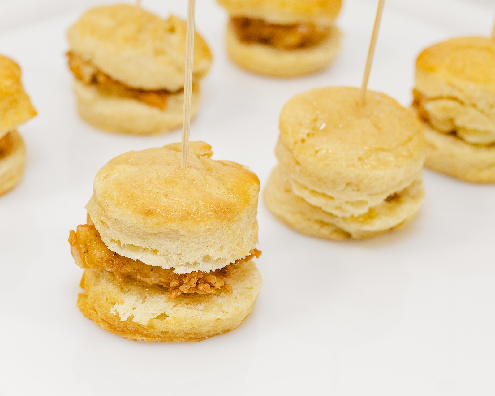 Petite Honey Butter Chicken Biscuits from A Fare Extraordinaire, Best Winter Appetizers For Your Event