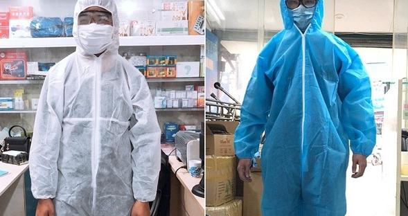 Quần áo phòng dịch dùng 1 lần thường được làm từ vải sợi carbon