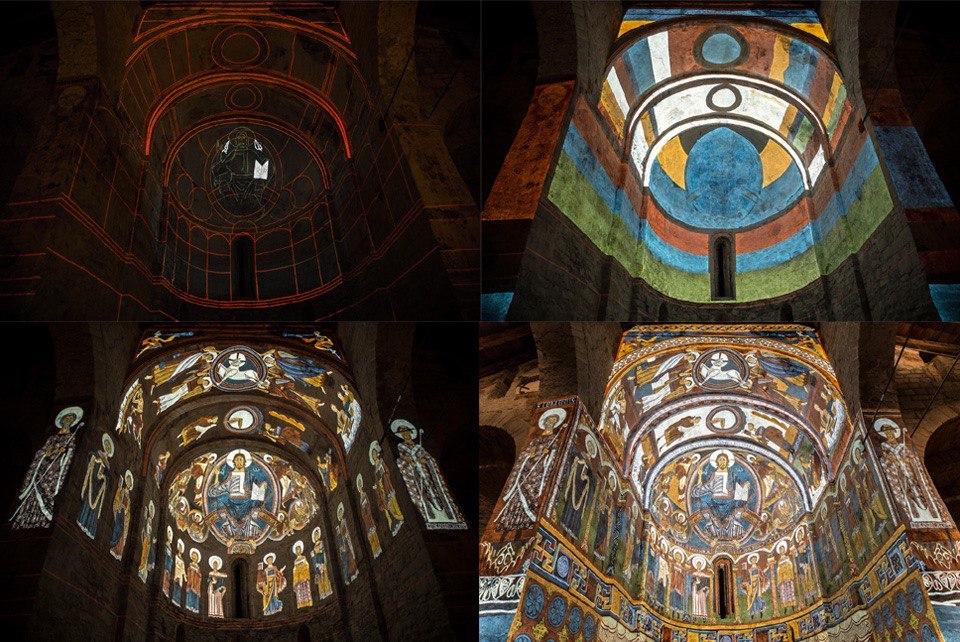 Video mapping en la iglesia Sant Climent de Taüll en el valle de Boí