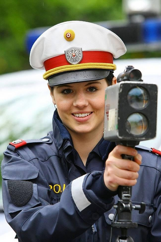 The most beautiful police girls from Austria